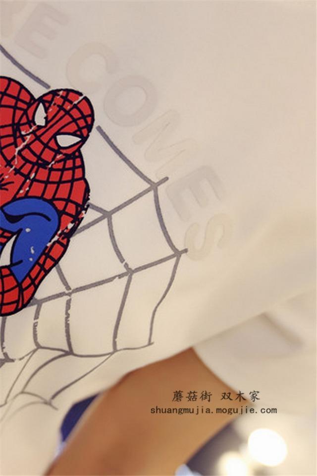 双木家蜘蛛侠设计图案t恤