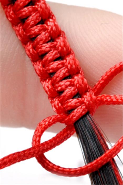 抖音同款用头发编手链一缕青丝一缕魂手工编织的绳子材料自制手绳图片