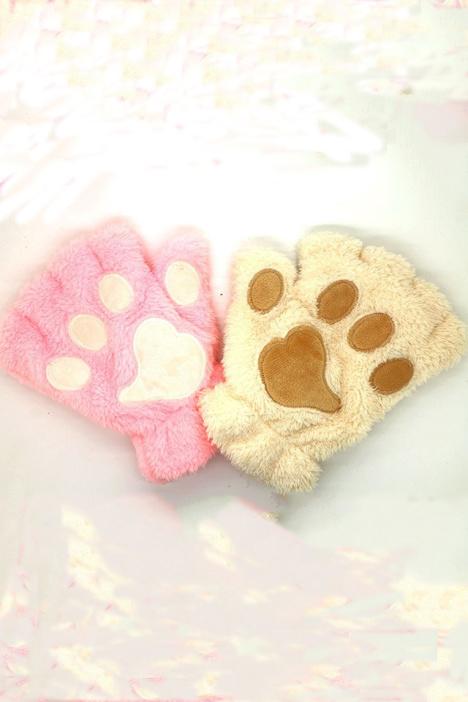 可爱卡通猫咪爪子手套