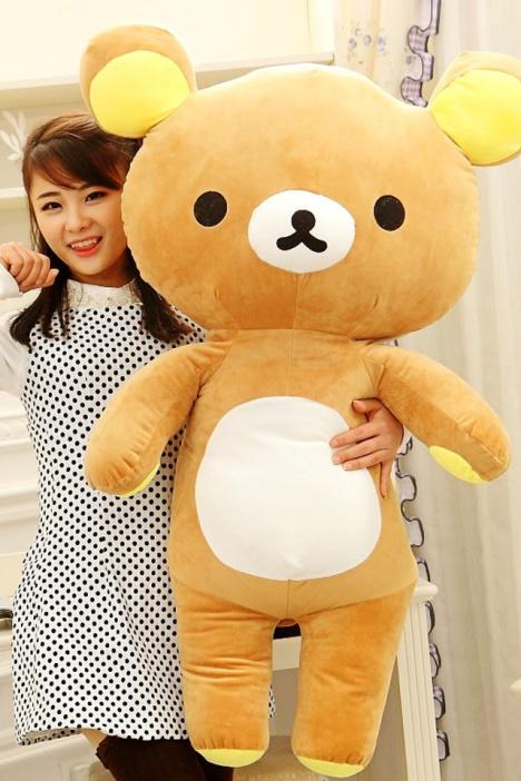 可爱~轻松小熊公仔抱枕毛绒玩具生日礼物闺蜜礼物布娃娃抱枕