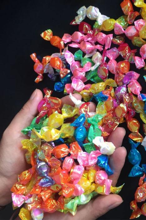 买1送1 千纸鹤多彩糖许愿糖水果糖彩虹糖小酸酸硬糖婚庆小糖果