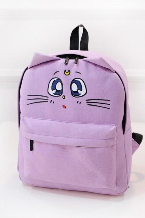 唐家小猫txt书包_卡通猫咪帆布双肩包书包