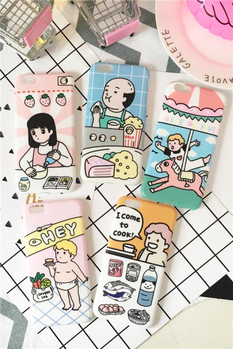 韩国东大门可爱卡通小孩童年时代吃货婴儿料理少女苹果6s手机壳