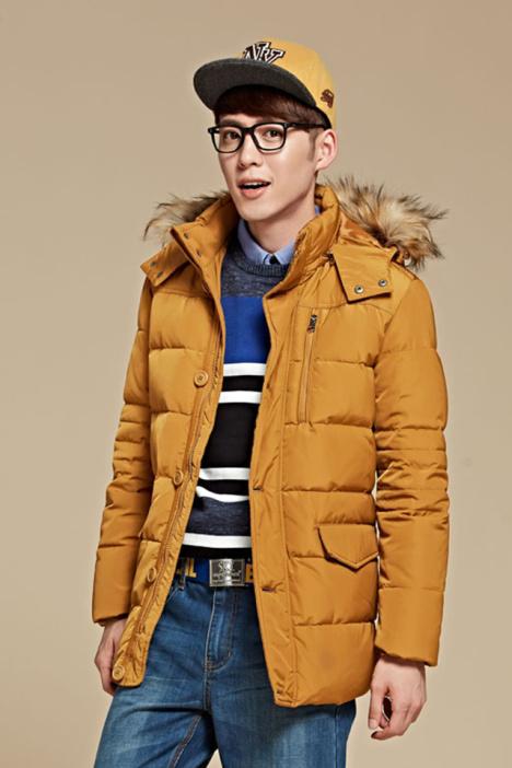 森马羽绒服 中长款 冬装男士纯色男装外套韩版潮流休闲男装图片