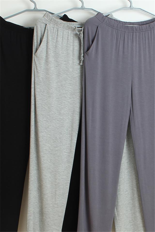莫代尔睡裤男家居服女夏男士运动裤家居长裤薄款休闲居家裤空调裤