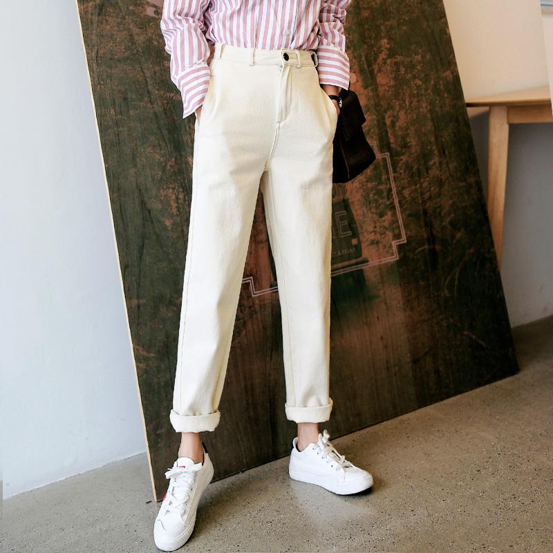 韩都衣舍2021春装新款女装韩版宽松显瘦直筒长裤休闲裤