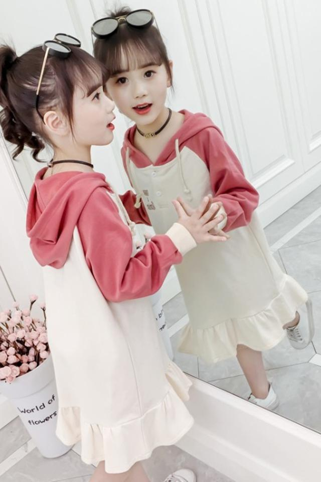 女童春装卫衣连衣裙2020新款韩版中大童卫衣裙时尚休闲洋气