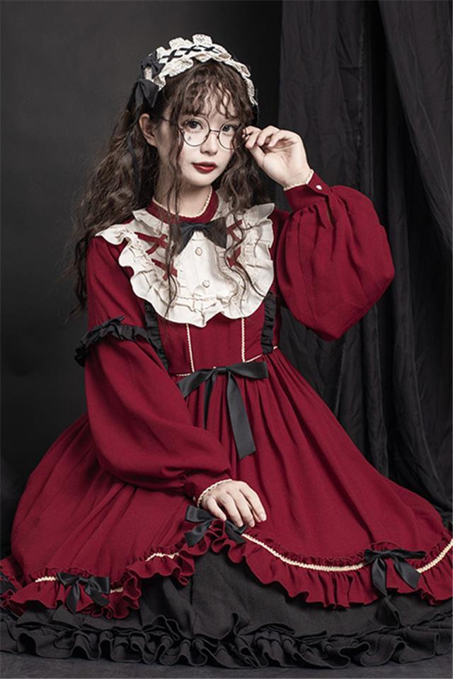 原创正版lolita洛丽塔裙子现货op日常洋装公主连衣裙学生全套春夏