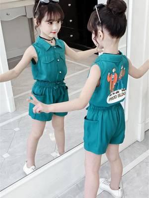 【艳姐时尚穿搭】女童套装夏装超洋气儿童时髦夏季新款网红童装女孩短裤两件套