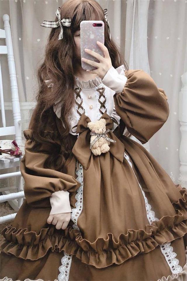 洛丽塔lolita春夏日系可爱萝莉学生洋装软妹裙2020裙子新款连衣裙