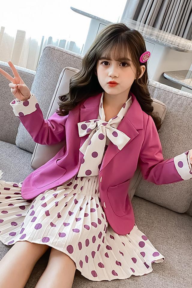 女童秋装套装裙两件套2020新款洋气春秋款韩版连衣裙套装公主裙子