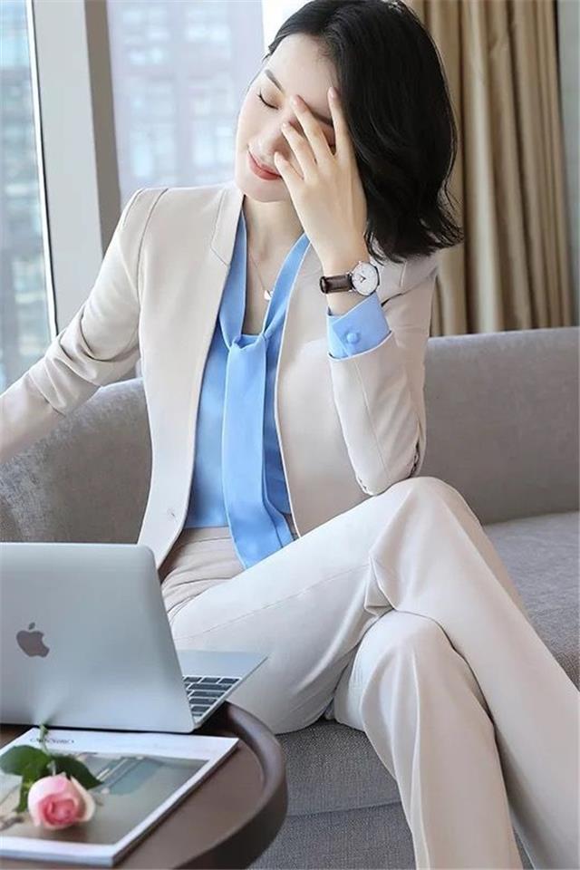 职业装西装套装女2018新款时尚ol气质商务休闲正装工作服三件套女