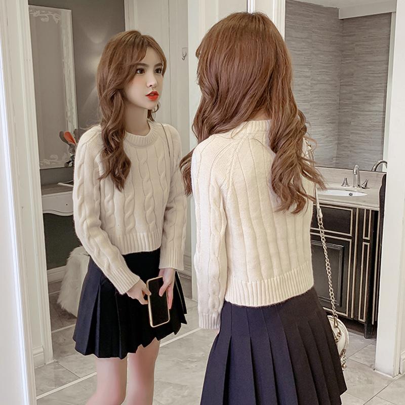 娇小矮个子150CM显高145春秋XS女装155套装毛衣搭配半身裙两件套