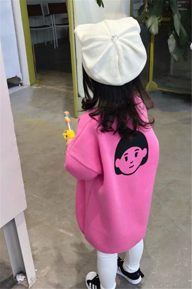 女童卫衣裙加绒2020冬装新款女宝宝中长款卫衣韩版连衣裙洋气