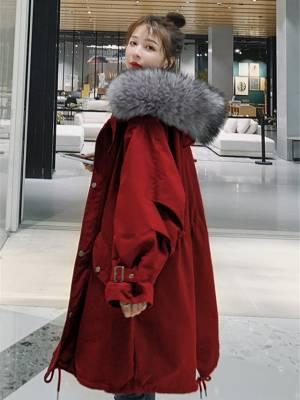 【MINI冰冰】0年冬季新款韩版宽松工装加绒加厚棉衣棉袄外套