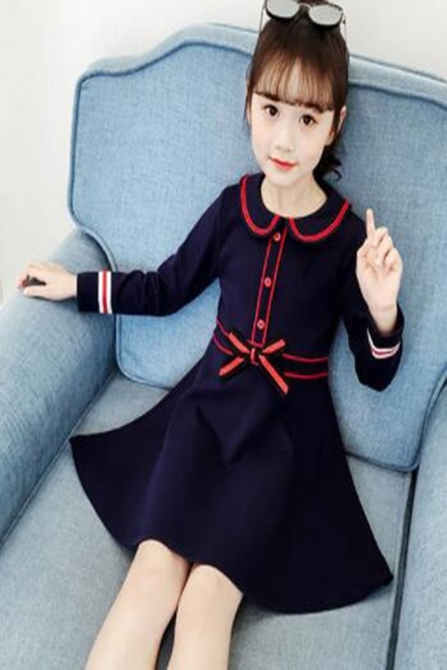 儿童裙子春季新款连衣裙女童连衣裙女童长袖可爱公主连衣裙