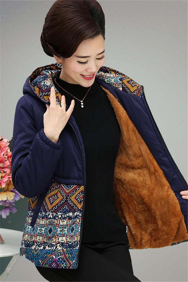 特价妈妈装棉衣冬装中老年人4050女装冬款外套棉服短款奶奶装棉袄