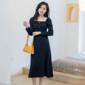【微胖圆圆教穿搭】连衣裙女L303867C #商场同款,依尚街区专柜正品#