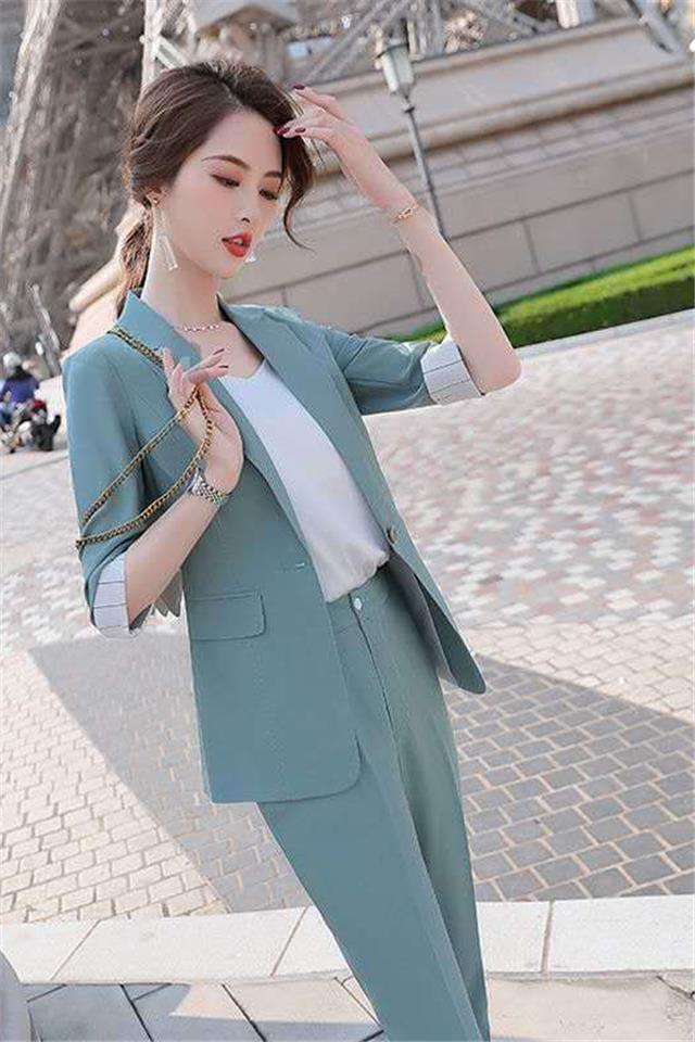 薄款小西装外套女气质2020春夏新款韩版灰色西服小个子套装女洋气2月25日发完