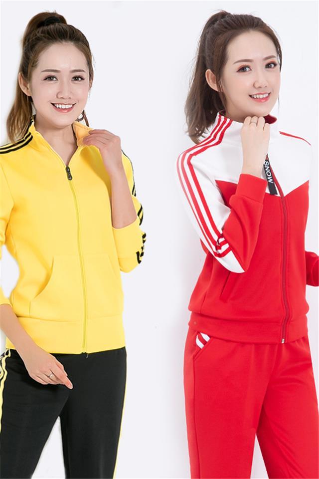 运动套装女2021春秋季新款学生运动服大码韩版修身休闲卫衣两件套