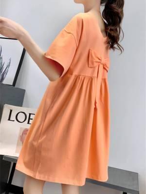 【sunny洁ya】孕妇装夏装短袖t恤女中长款夏季新款韩版宽松孕妇上衣连衣裙