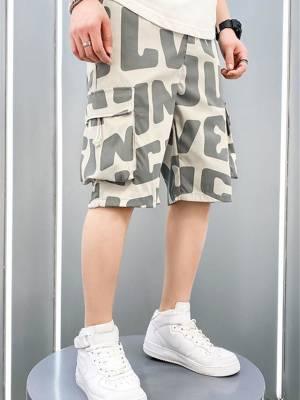 【淡抹悲伤5201314】新款男装休闲五分裤短裤夏季外穿宽松百搭时尚休闲裤子
