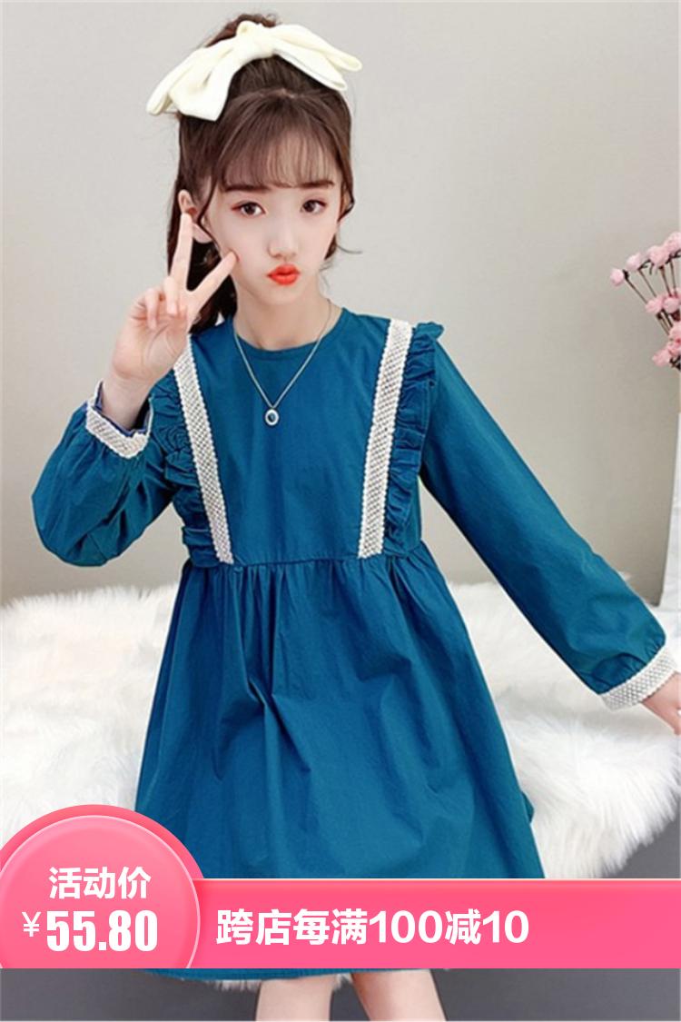 女童连衣裙春装2021新款网红韩版儿童洋气小女孩春秋公主裙潮