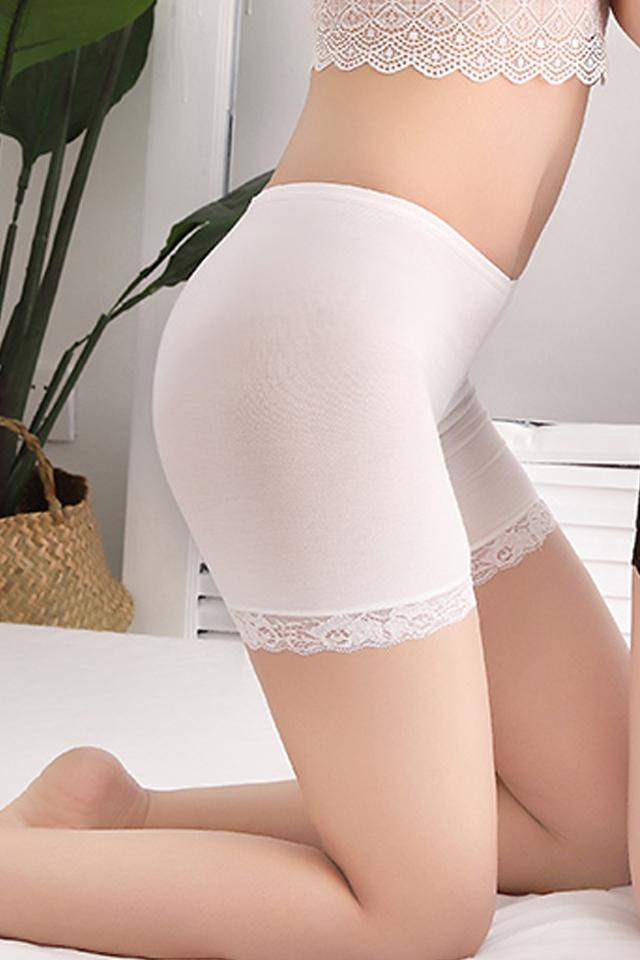 两条装冰丝防走光安全裤女夏季薄薄内穿打底裤三分保险短裤内裤女