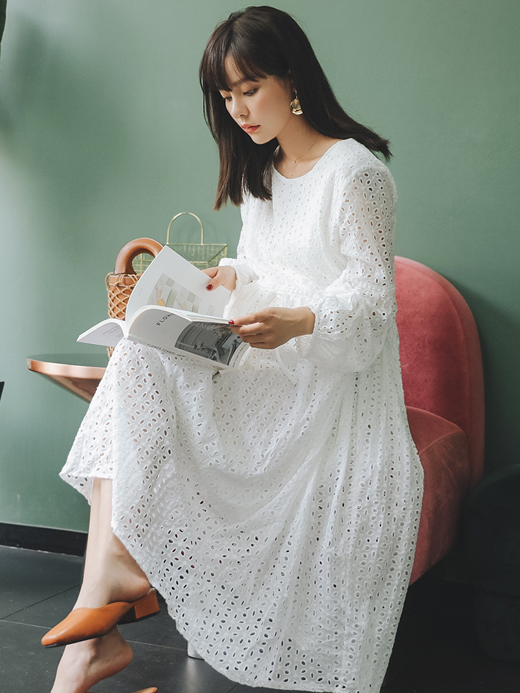 【清仓】孕妇装秋冬时尚孕妇连衣裙秋冬外出中长款纯棉娃娃裙长裙