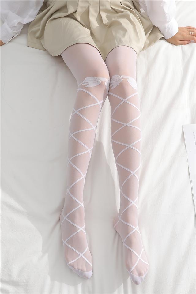 日系洛丽塔白色丝袜女性感可爱软妹蝴蝶结显瘦打底袜连裤袜子薄款
