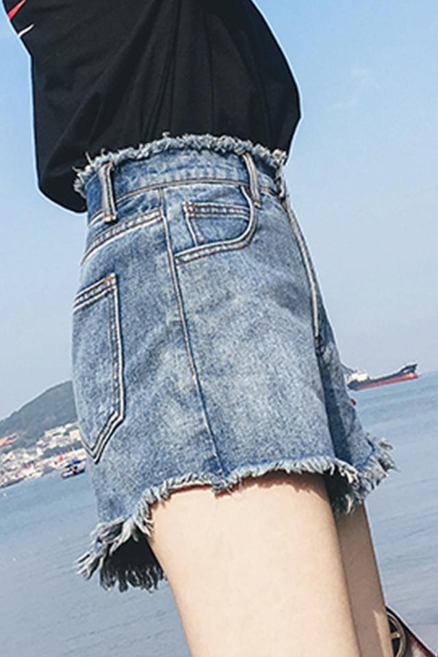 牛仔短裤女夏新款高腰韩版学生宽松大码a字复古阔腿热裤ins潮