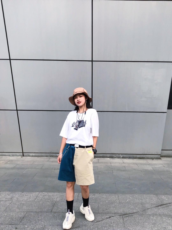#上短下长,腿长一米八!# 今日份假小子上线 戴上渔夫帽  做街上最靓的崽