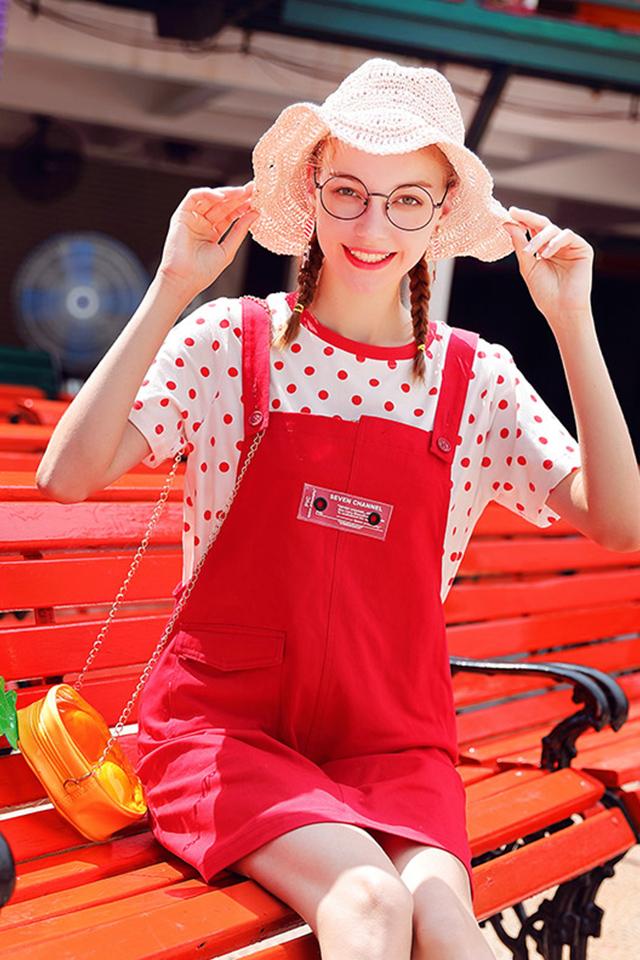 背带裙女夏季短裙新款韩版宽松学生连衣裙学院风裙子潮