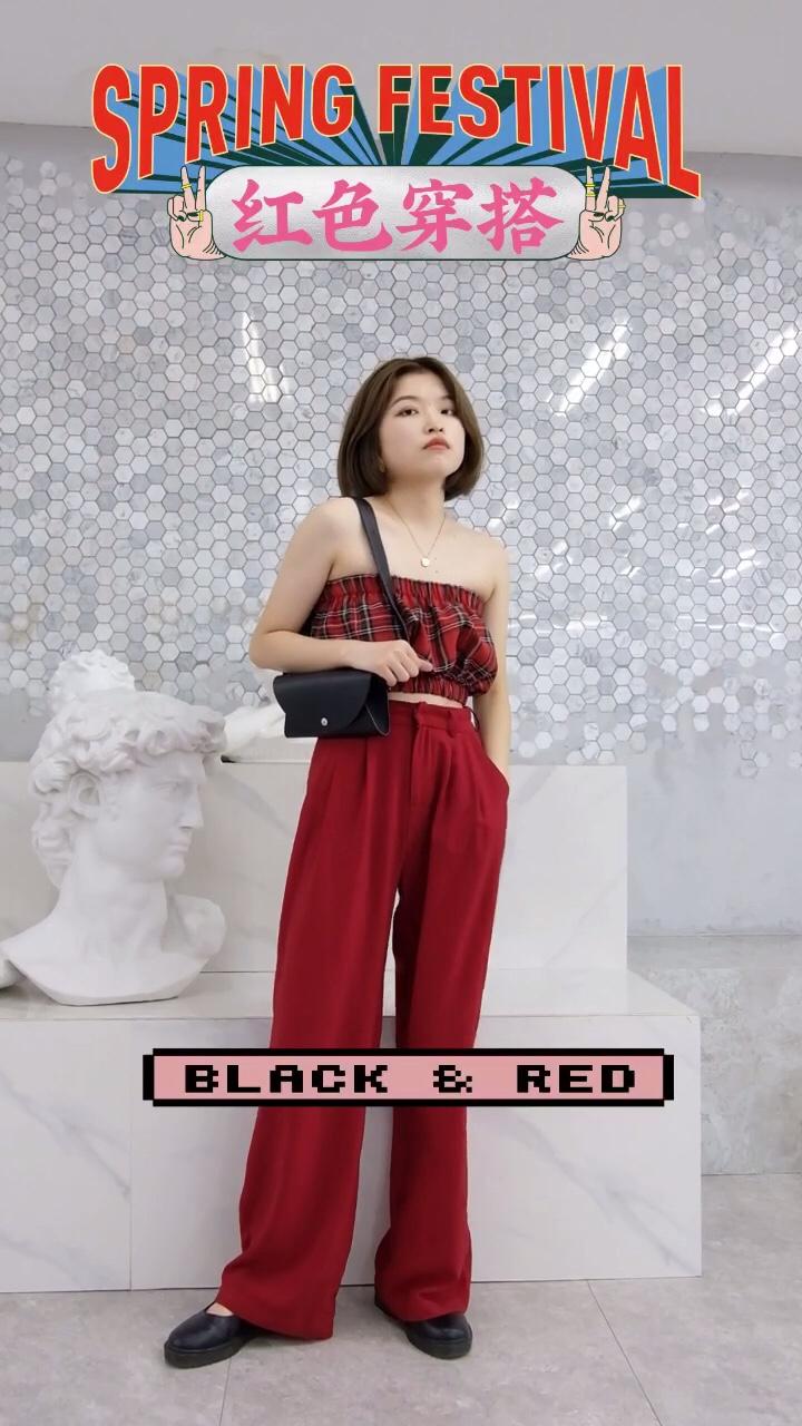 #蘑菇街新品测评# 红色系衣服穿搭合辑 颜色的夏天当然需要红色来点缀 红色可以作为上衣 夏装 也可以一套红 不同的搭配穿出不同的风格 关注我学穿搭吧!