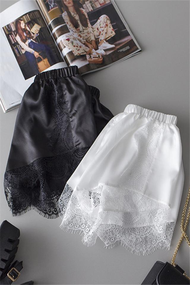 夏季短裤白色安全裤蕾丝花边防走光三分打底裤女休闲宽松薄款外穿