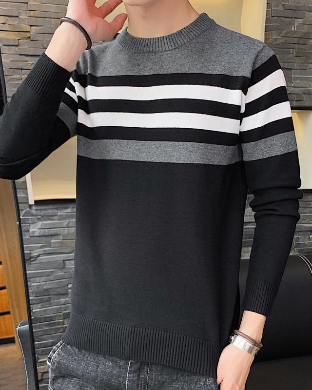 【加绒/不加绒可选】男士毛衣针织衫套头男装韩版宽松春秋季冬季