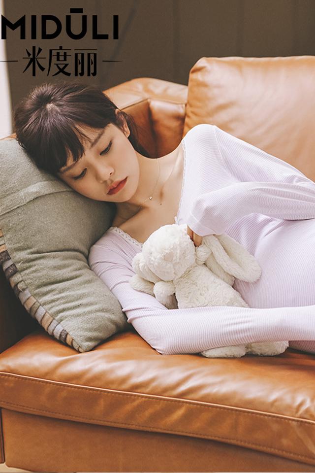 孕妇装秋冬孕妇套装加绒保暖内衣孕妇秋衣秋裤哺乳月子服睡衣春秋