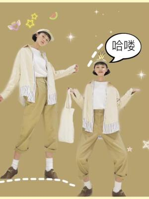 分享一套懒人必备的穿搭!秋天怎么穿搭才能不一样呢!这一件衬衫很有设计感哦!假两件的设计看起来更佳有层次!这样子搭配一整套的色系也会比较舒适!帽子,堆堆袜!都是必备不可少的,千万不在做路人甲#入秋最好看的外套盘点#