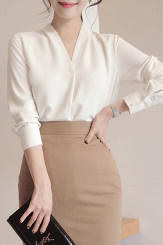 2020长袖雪纺衬衫女设计感小众复古港味衬衣初秋上衣轻熟