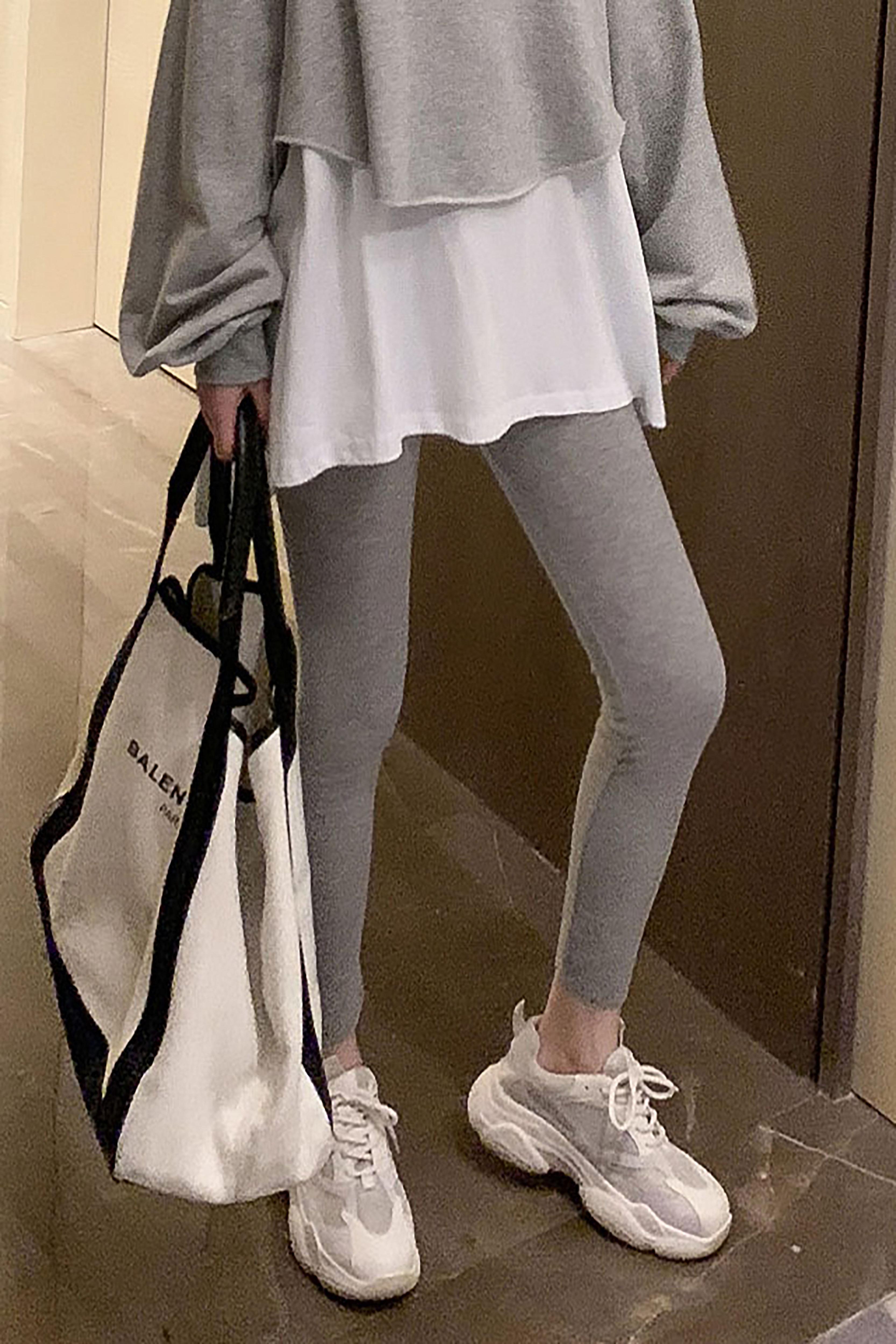 修身显瘦百搭打底裤女秋季新款韩版弹力简约纯色休闲外穿九分裤子