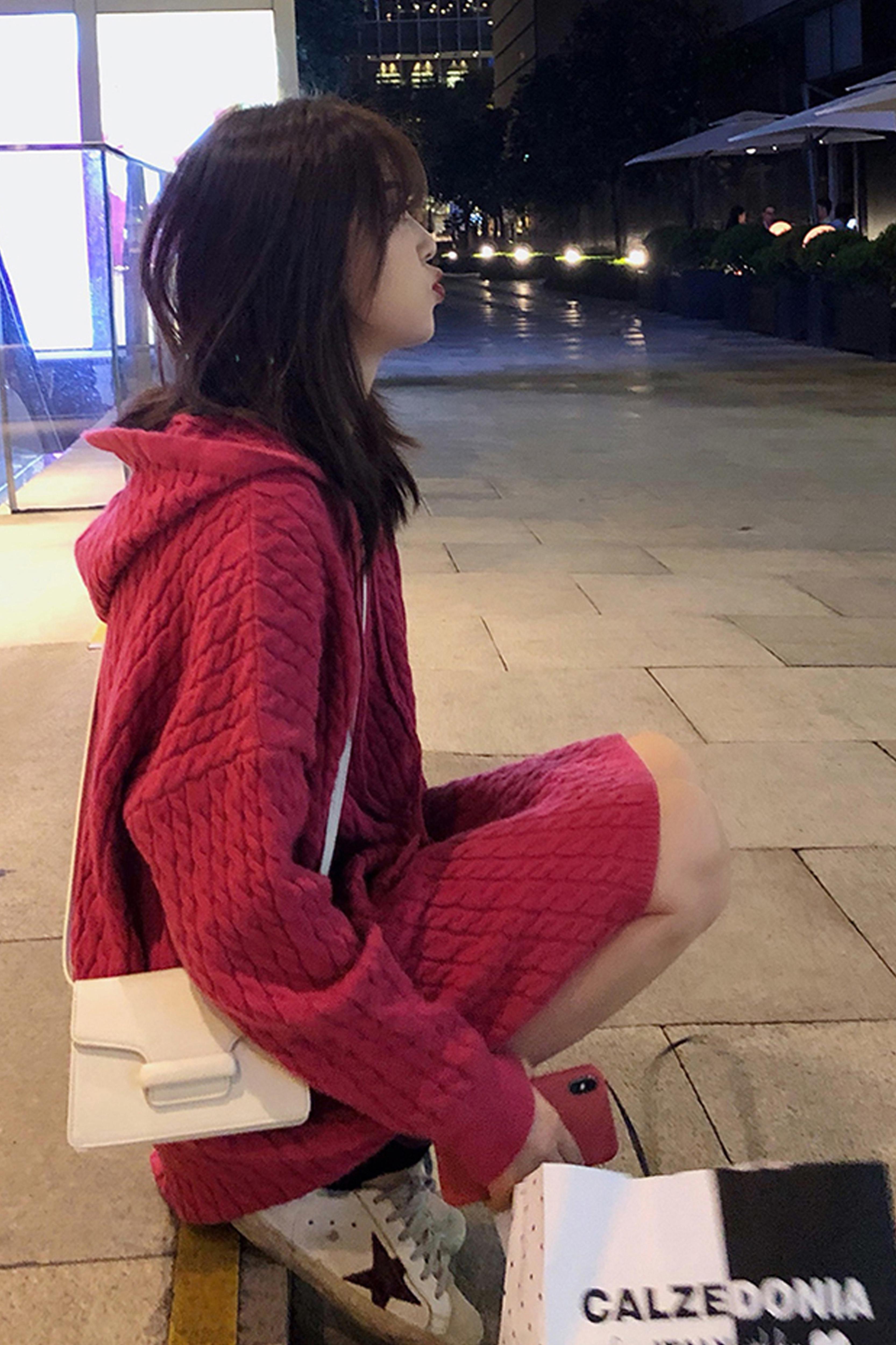 2021春季新款女装韩版宽松中长款套头毛衣裙上衣外穿长袖外套