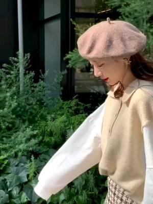 针织拼接衬衣+小香风半裙,这套搭配也太温柔了吧🧡这个季节穿刚刚好✨#国庆出游c位穿搭预定!#