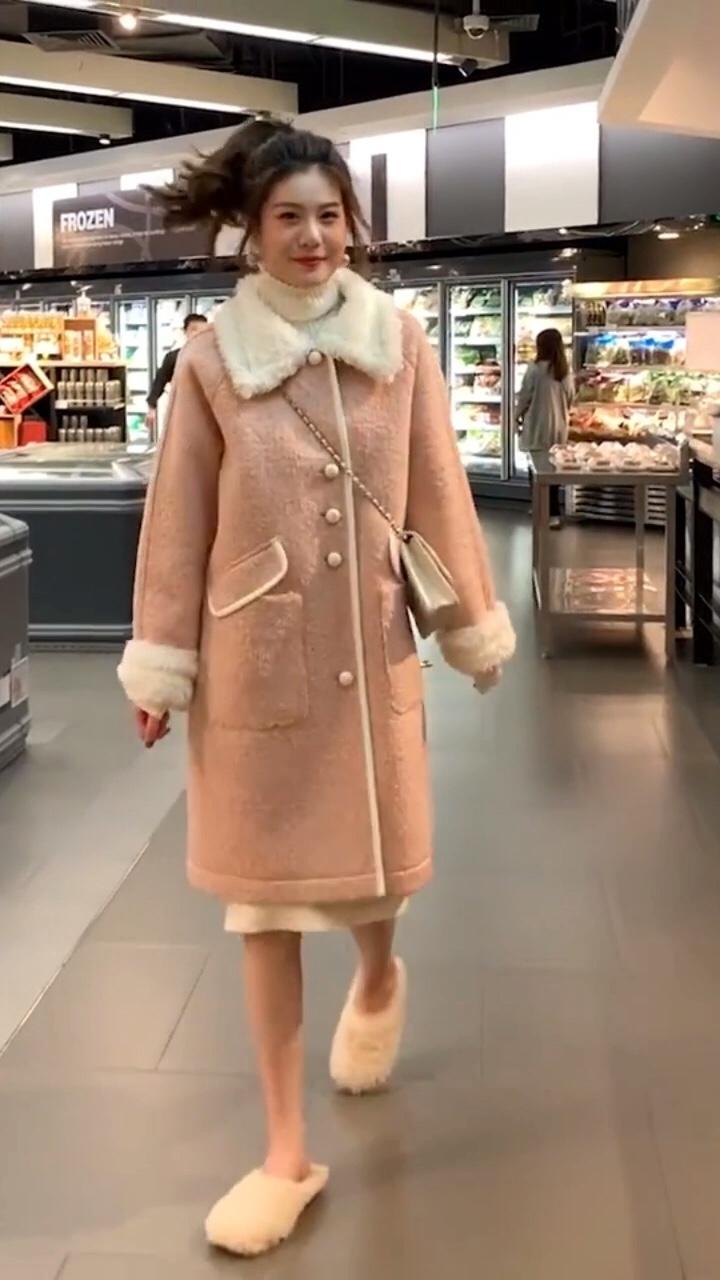 小个子秋冬外套这样搭配超好看#双十一美妆开箱种草!#
