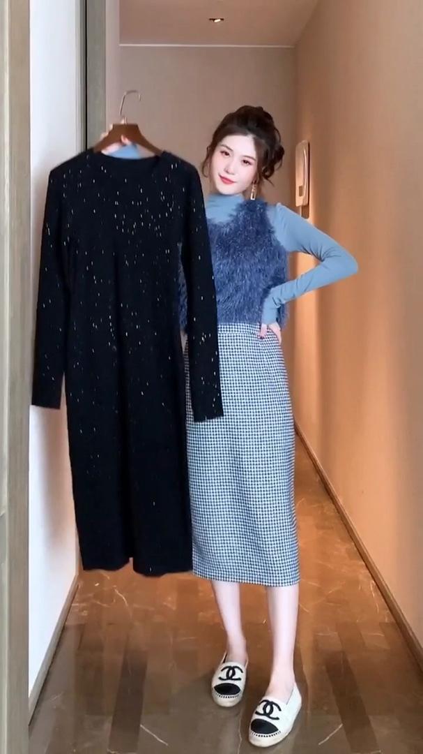 秋冬打底裙别乱买,有这一套黑色打底裙就足够了。#双11全网超值女神套装!#