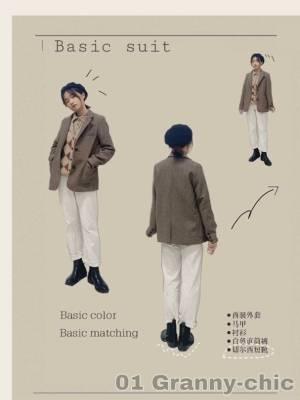 #短大衣才是今年流行款# 🔸小个子穿搭  叠穿马甲和西装外套真的好绝!搭配上白裤子切尔西小个子也可以非常干练哦。