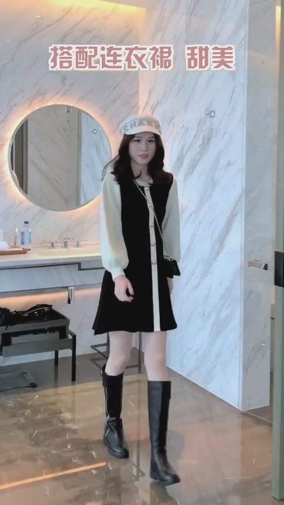 女生一定要知道的长筒靴N种搭配。#百元打底裙,单穿内搭通通可!#