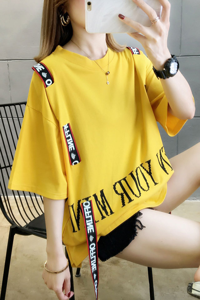 棉质短袖t恤女夏季新款ins潮宽松韩版日系夏天港风半袖上衣服