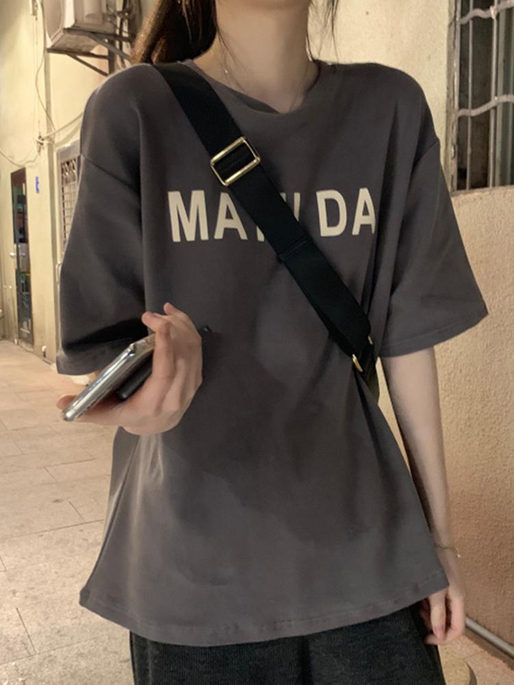 超火短袖T恤女春夏装网红洋气体恤韩版潮学生蹦迪宽松半袖上衣服