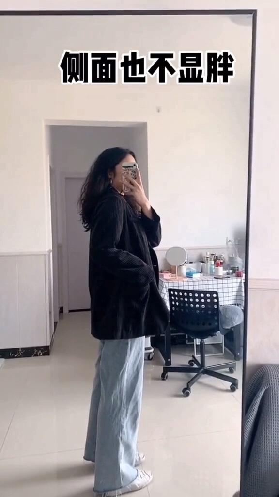 #每日穿搭分享#  120斤 以上的姐妹们看看这件西装,超级显瘦,遮胯显肩窄,任何场合都能穿 135斤 微胖女生
