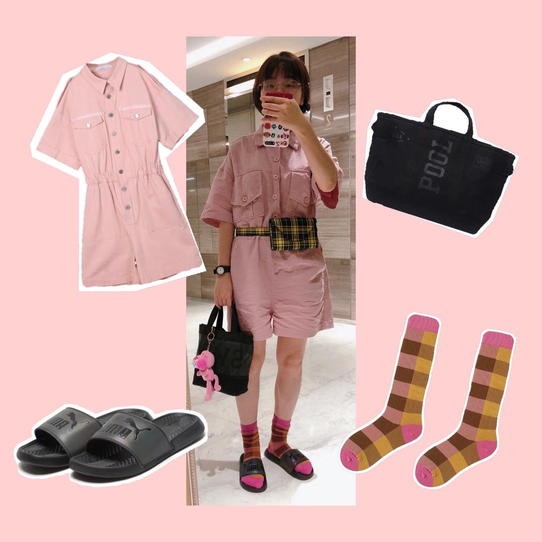 今日穿搭是粉色系的~ #全民搭配挑战赛#